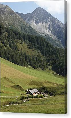 Canvas Print featuring the photograph Mountain Landscape by Raffaella Lunelli