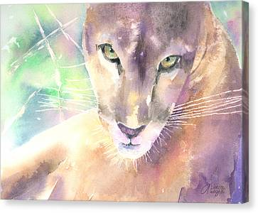 Mountain Lion Canvas Print by Arline Wagner