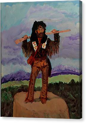 Mountain Man Canvas Print by Swabby Soileau