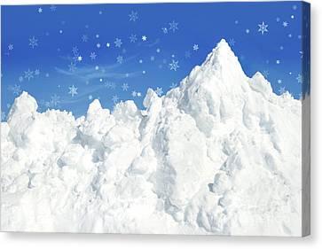 Mountain Of Snow Canvas Print by Sandra Cunningham
