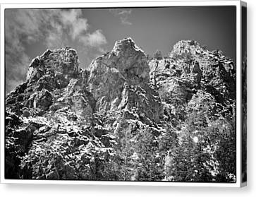 Mountain Peaks Canvas Print by Lisa  Spencer
