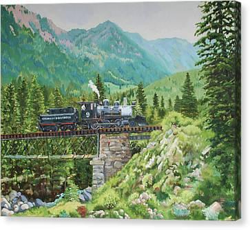 Mountain Railroad Canvas Print
