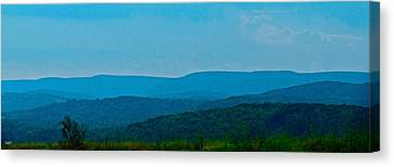 Mountain Range Canvas Print by Debra     Vatalaro