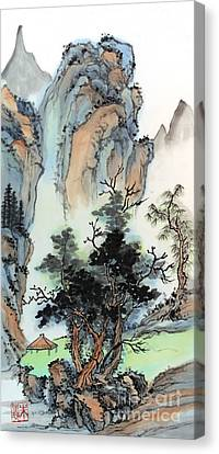 Canvas Print featuring the painting Mountain Retreat by Yolanda Koh