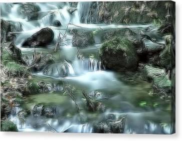 Mountain River Dream Canvas Print by Odon Czintos