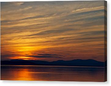 Mountain Silhouette Canvas Print by Mike Horvath