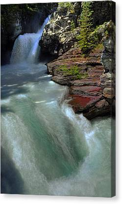 Mountain Snow Melt Canvas Print by Don Wolf