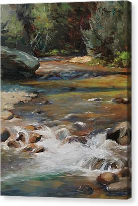 Mountain Stream Canvas Print by Anna Rose Bain