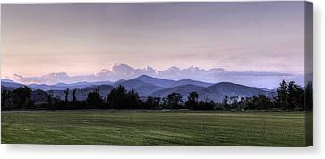 Admiring The View Canvas Print - Mountain Sunset - North Carolina Landscape by Rob Travis