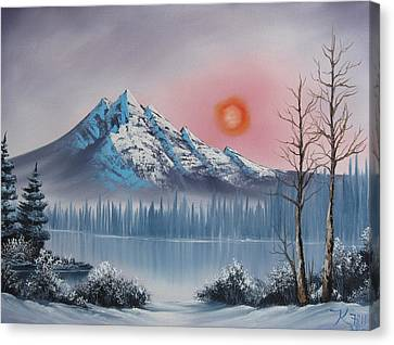 Mountain Sunset Canvas Print by Kevin Hill