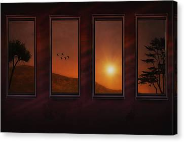 Mountain Sunset Canvas Print by Tom York Images