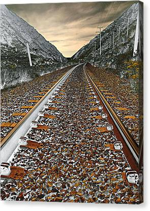 Mountain Tracks Canvas Print