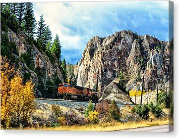 Canvas Print featuring the photograph Mountain Train by Kelly Reber