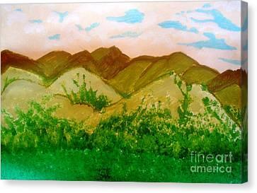 Mountain View Of Ecuador Canvas Print