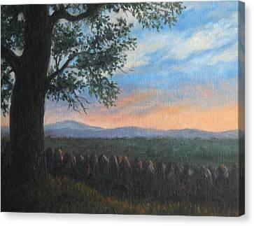Mountain View Sunset Canvas Print by Oksana Zotkina
