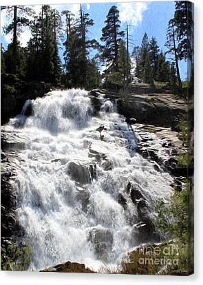 Canvas Print featuring the photograph Mountain Waterfall  by Anne Raczkowski
