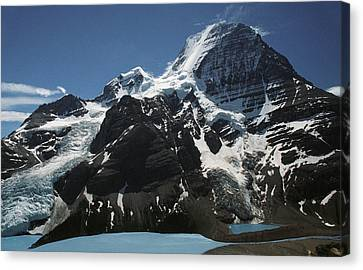 Mountain With Glacier And Snow Canvas Print by Kelly Redinger