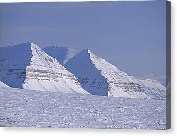 Mountains Above Kings Glacier Canvas Print by Gordon Wiltsie
