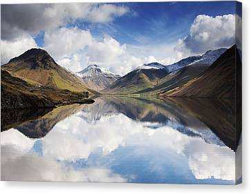 Rural Landscapes Canvas Print - Mountains And Lake, Lake District by John Short