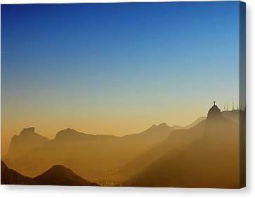 Redeemer Canvas Print - Mountains Of Rio De Janeiro by Antonello