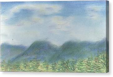 Canvas Print featuring the pastel Mountains Over Lennox by Denny Morreale