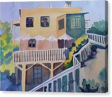 Mountaintop Restaurant Canvas Print