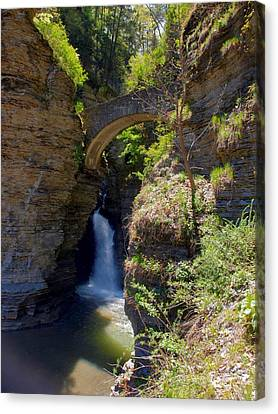 Mouth Of The Glen Watkins Glen State Prk Canvas Print by Joshua House