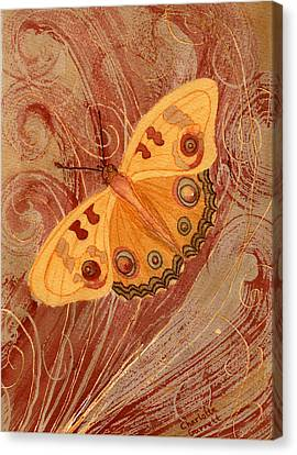 Butterfly In Motion Canvas Print - Movement Butterfly by Charlotte Garrett