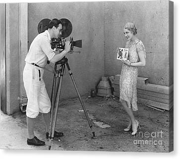 Movie Camera, 1920s Canvas Print by Granger