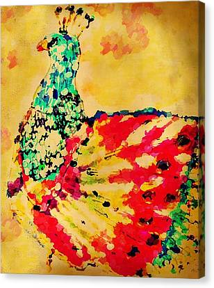 Mprints - Pretty  Peacock Canvas Print