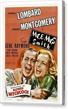 Mr. And Mrs. Smith, Robert Montgomery Canvas Print by Everett