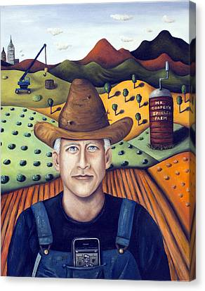 Mr Cooper's Spinach Farm Canvas Print by Leah Saulnier The Painting Maniac