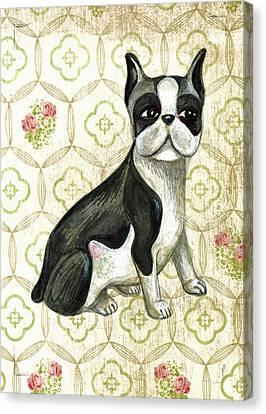 Mr. Iggy The Boston Terrier Canvas Print by Nancy Mitchell
