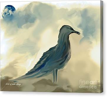 Mr. Jonathon Seagull Of La Jolla California Canvas Print by Sherri  Of Palm Springs