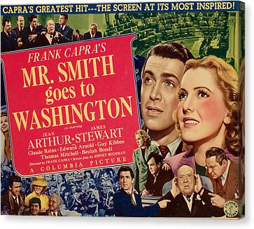 Mr. Smith Goes To Washington, James Canvas Print by Everett