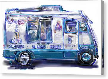 Mr. Softee Canvas Print by Russell Pierce