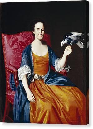 Women. Eighteenth Century Canvas Print - Mrs. Benjamin Hallowell by John Singleton Copley