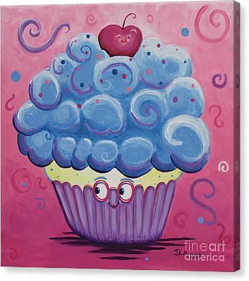 Mrs. Blue Cupcake Canvas Print by Jennifer Alvarez