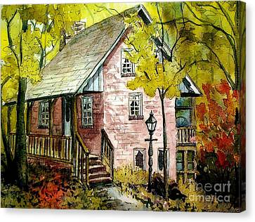 Canvas Print featuring the painting Mrs. Henry's Home 2 by Gretchen Allen