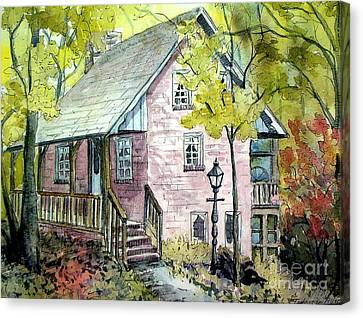 Canvas Print featuring the painting Mrs. Henry's Home by Gretchen Allen
