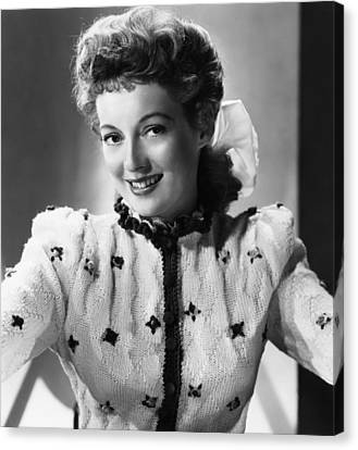 Mrs. Mike, Evelyn Keyes, 1949 Canvas Print by Everett