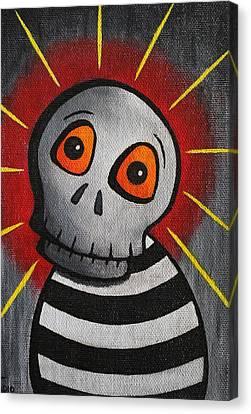 Mr.skullington Canvas Print