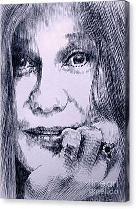 Ms. Joplin Canvas Print by Robbi  Musser
