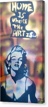 Ms.monroe Canvas Print by Tony B Conscious