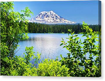 Mt Adams And Takhlakh Lake Canvas Print