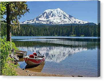 Mt Adams At The Lake Canvas Print