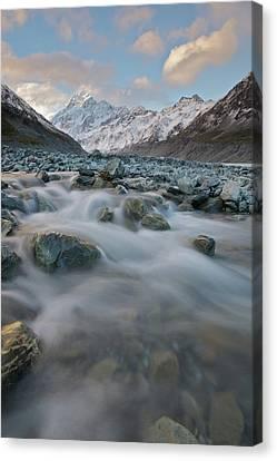 Mt Cook Stream Canvas Print by Sven Klerkx
