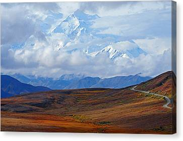 Mt. Mckinley Canvas Print by Alan Lenk