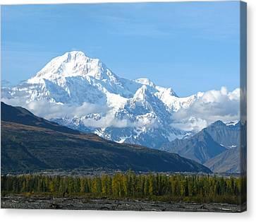 Mt Mckinley Alaska  Canvas Print by Sam Amato