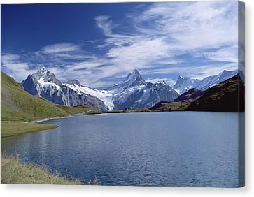 Mt Wetterhorn And Mt Schreckhorn, Alps Canvas Print by Konrad Wothe